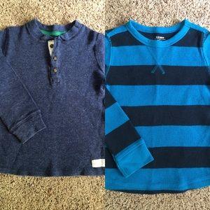 2 Thermal Long Sleeve Shirts